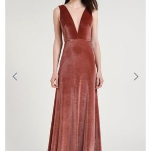 BHLDN Dresses - BHLDN JENNY YOO Logan Velvet Dress English Rose